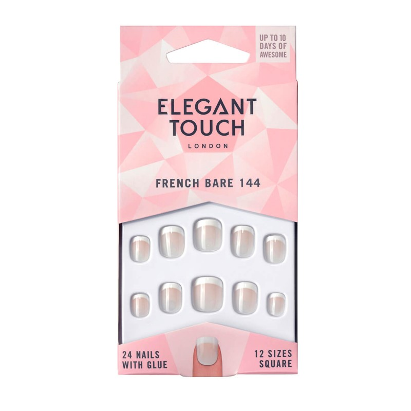 Faux ongles French Nails 144 (XS) Pink Elegant Touch