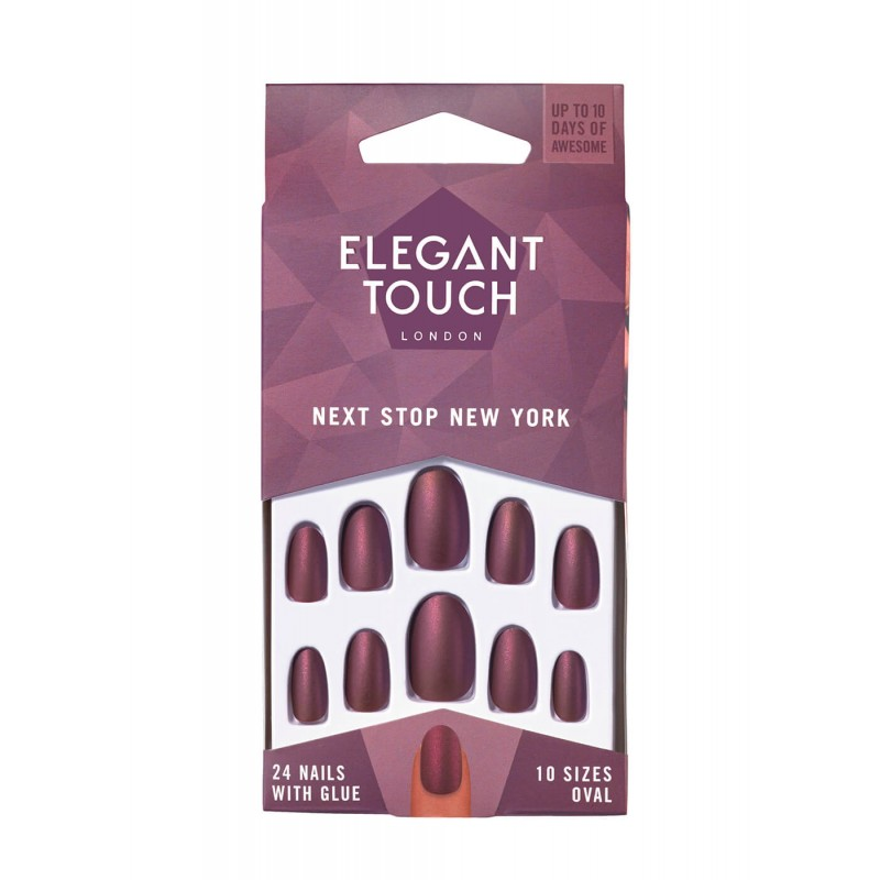 Faux ongles Colour Nails Next Stop New York Elegant Touch