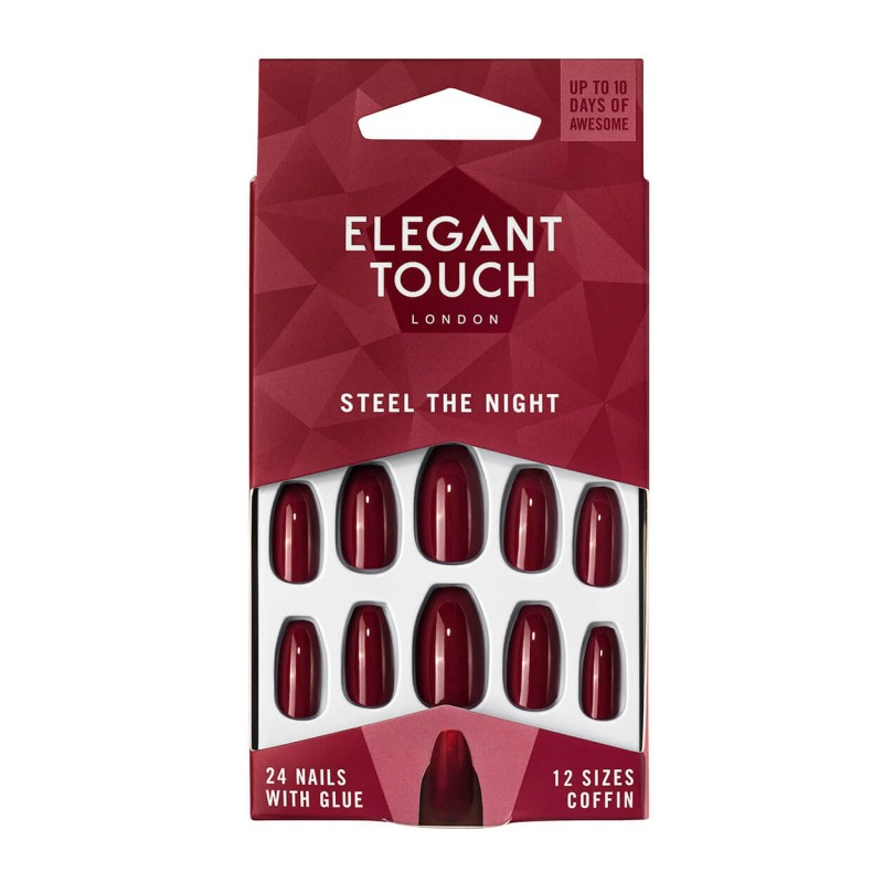 Faux ongles Colour Nails Steel The Night Elegant Touch