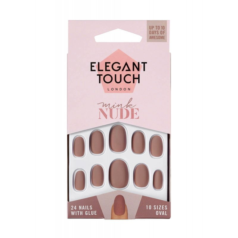 Faux ongles Nudes Nails Mink Elegant Touch