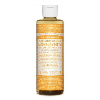 Savon liquide agrumes-orange Dr Bronner's 240 ml