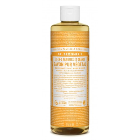Savon liquide agrumes-orange Dr Bronner's 475 ml