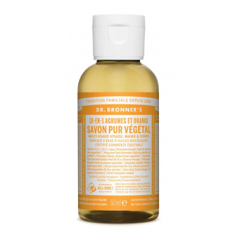 Savon liquide agrumes-orange Dr Bronner's 59 ml