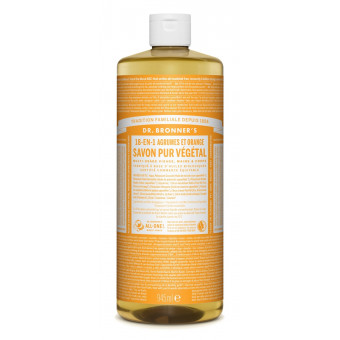 Savon liquide agrumes-orange Dr Bronner's 945 ml