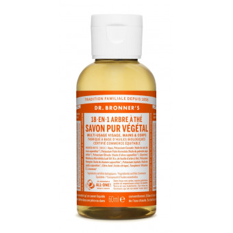 Savon liquide Tea Tree Dr Bronner's 59 ml
